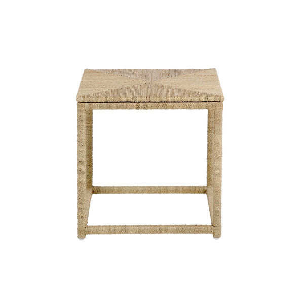 Wells Natural Seagrass End Table, image 3