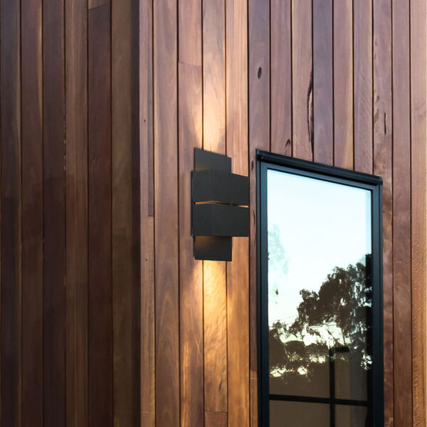 Kibea Matte Black Two-Light LED Outdoor Wall Sconce, image 3
