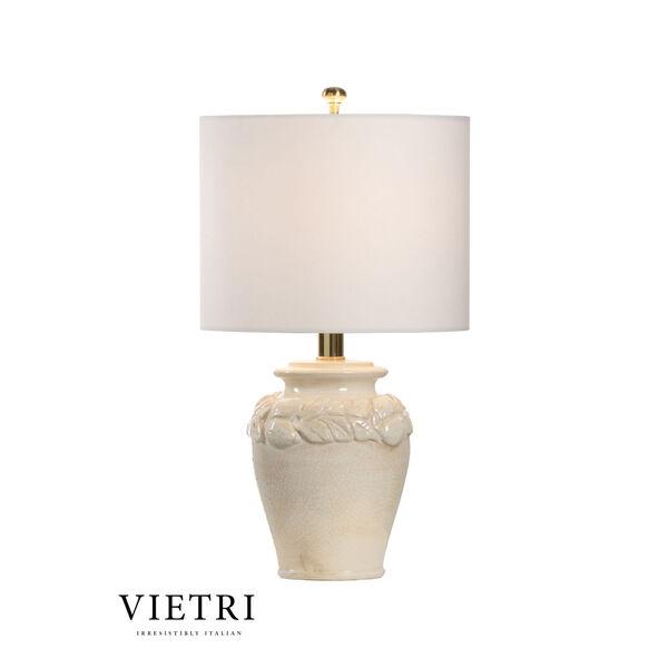 Limoni Cream and White One-Light Table Lamp, image 1