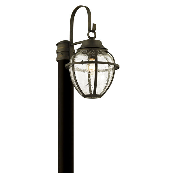 Bunker Hill Vintage Bronze One-Light Outdoor Light Post with Clear Seeded Glass, image 1