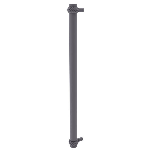 Matte Gray 18-Inch Refrigerator Pull with Twisted Accents with Twisted Ring Detail, image 1