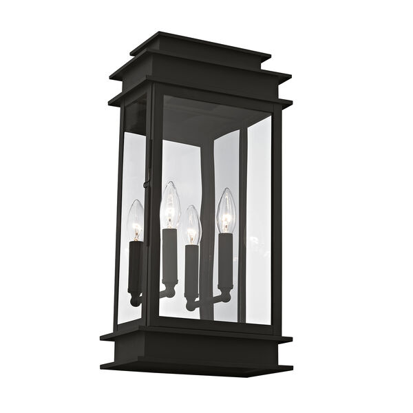 Princeton Black Two-Light 19-Inch Wall Lantern, image 1