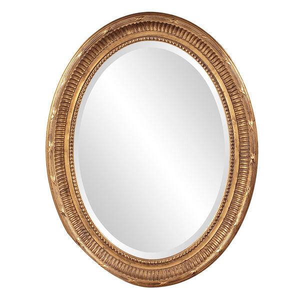 Nero Gold Oval Mirror, image 1