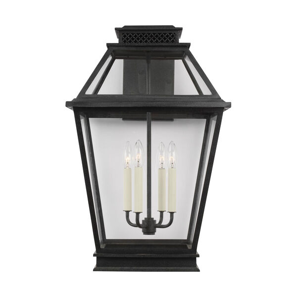 Falmouth Dark Weathered Zinc 16-Inch Four-Light Outdoor Wall Sconce, image 1