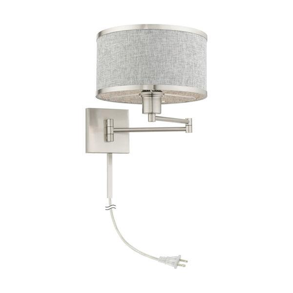 Park Ridge Brushed Nickel One-Light Swing Arm Wall Lamp, image 5