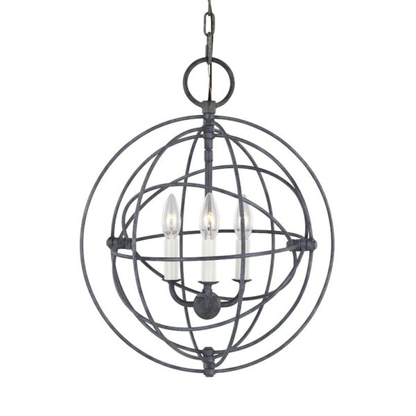 Bayberry Weathered Galvanized Three-Light Pendant, image 4