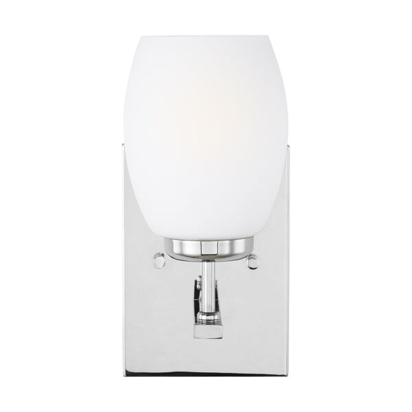 Catlin Chrome One-Light Bath Vanity with Etched White Inside Shade Energy Star, image 1