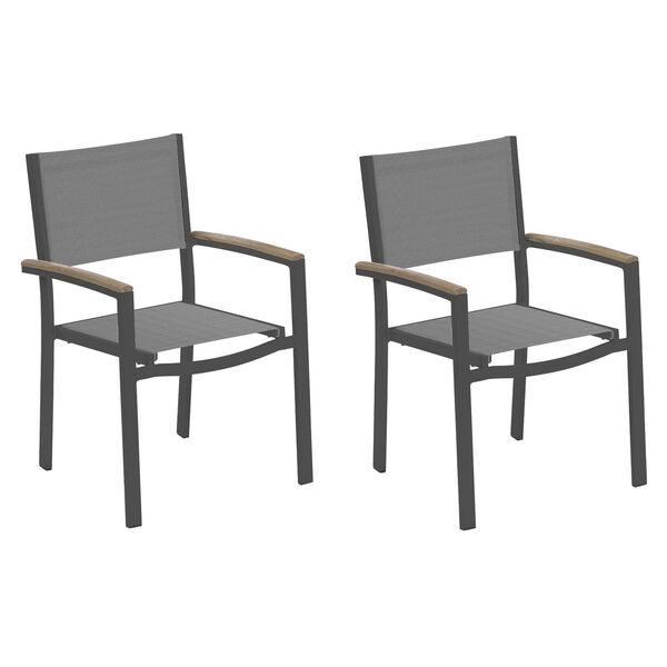 Travira Titanium Sling Armcaps and Coated Aluminum Frame Armchair, image 1