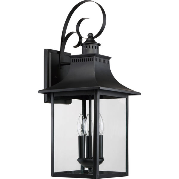 Chancellor Mystic Black Three-Light Outdoor Wall Sconce, image 2