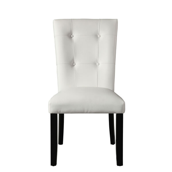 Markina White and Ebony Side Chair, image 3
