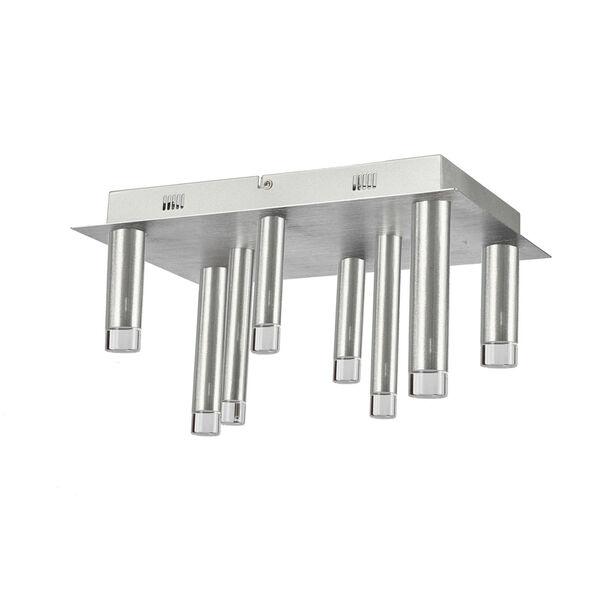 Galiano Satin Aluminum Eight-Light LED Flush Mount, image 1