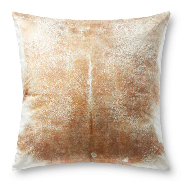 Beige and White 36-Inch x 36-Inch Floor Pillow, image 1