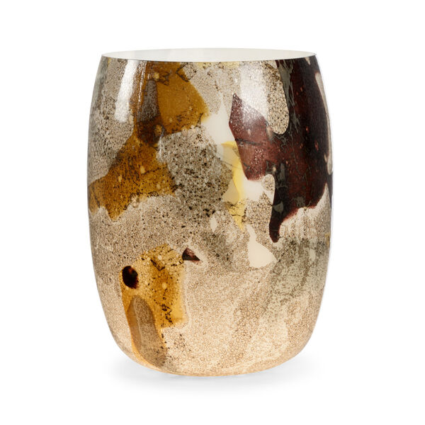 Brown and Cream One-Light On The Rocks Table Lamp, image 1