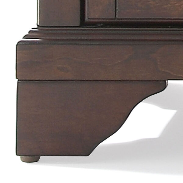 LaFayette Sliding Top Bar Cabinet in Vintage Mahogany Finish, image 6