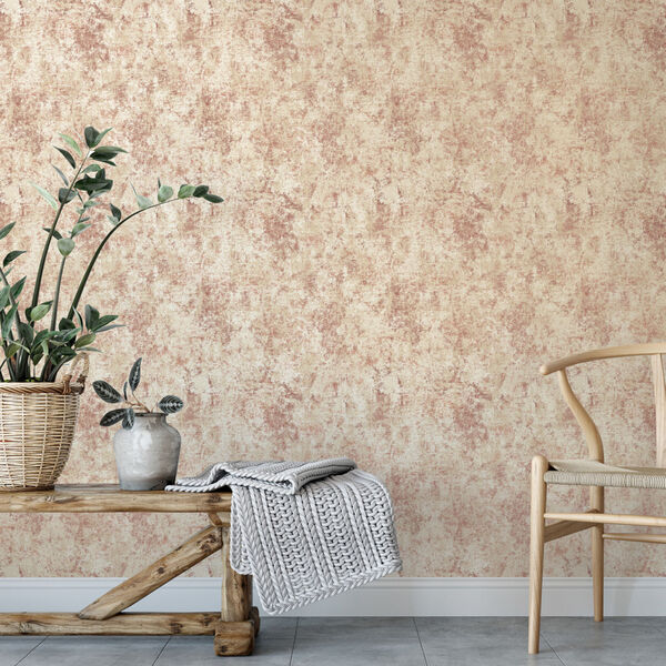 Distressed Gold Leaf Rose Peel and Stick Wallpaper, image 1