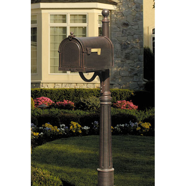Berkshire Copper Curbside Mailbox with Ashland Post, image 1