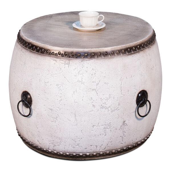White  Drum Table, image 2