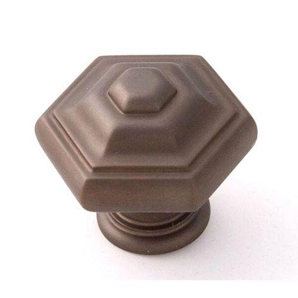 Chocolate Bronze Brass 1 1/4-Inch Knob, image 1