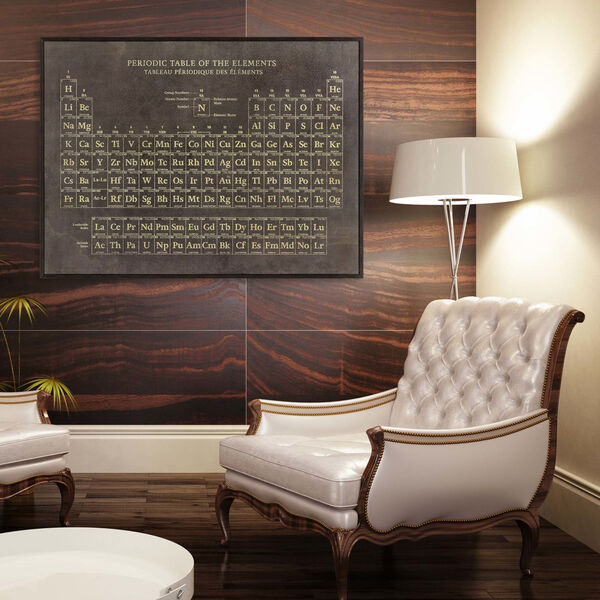 Periodic Table Brown Framed Art, image 2