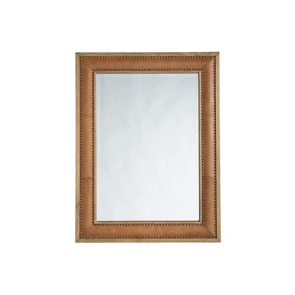 Los Altos Brown Dominica Leather Rectangular Mirror, image 1