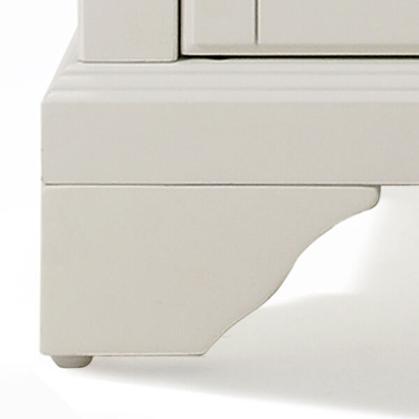 LaFayette Natural Wood Top Kitchen Island in White Finish, image 3
