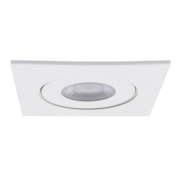 Lotos White LED Square Recessed Light Kit, image 2
