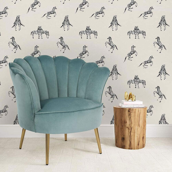 Novogratz White Zebras in Love Waverly Peel and Stick Wallpaper, image 4