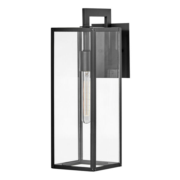 Max Black 19-Inch One-Light Outdoor Wall Mount, image 1