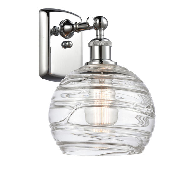 Ballston Polished Chrome Eight-Inch LED Wall Sconce with Clear Glass Shade, image 1