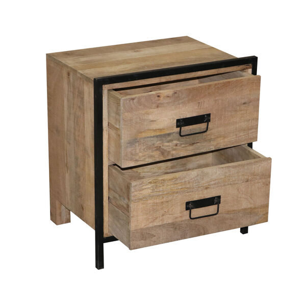 Outbound Natural and Black Nightstand, image 3