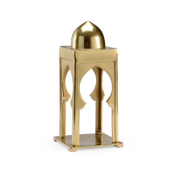 Morocco Antique Brass Scalloped Lantern, image 1