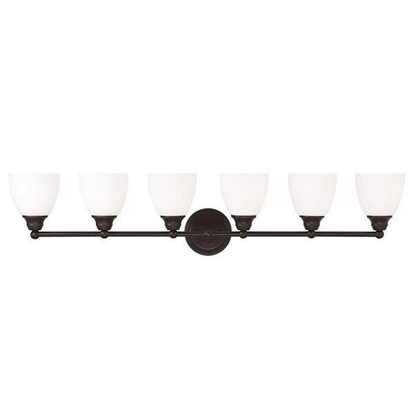 Somerville Bronze 42-Inch Six-Light Bath Light, image 1