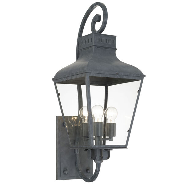 Dumont Graphite 32-Inch High Three-Light Outdoor Wall Mount, image 1
