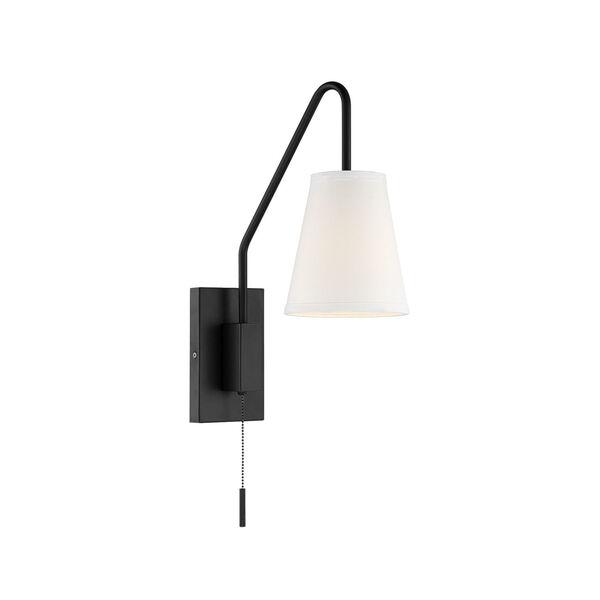 Owen Matte Black One-Light Sconce, image 2