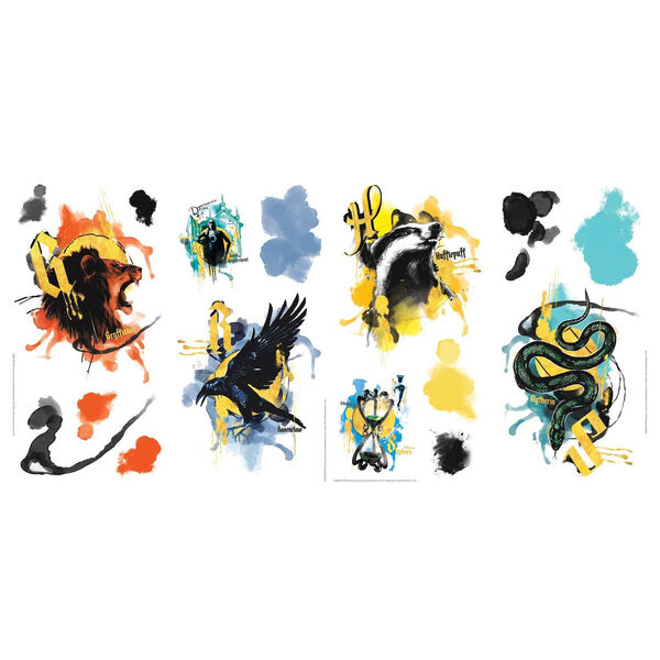 Harry Potter Hogwarts House Orange, Yellow And Blue Peel and Stick wall Decal - SAMPLE SWATCH ONLY, image 3