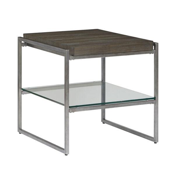 Thiago Brown Rectangular End Table, image 1