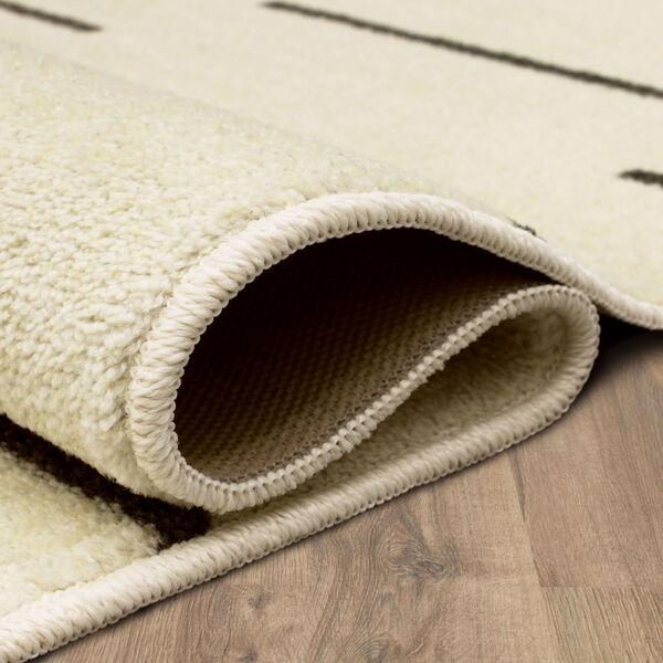 Kenza Ivory Linen Striped Runner: 2 Ft. x 6 Ft., image 5
