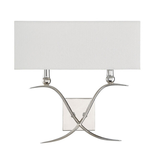 Linden Polished Nickel Two-Light Wall Sconce, image 2