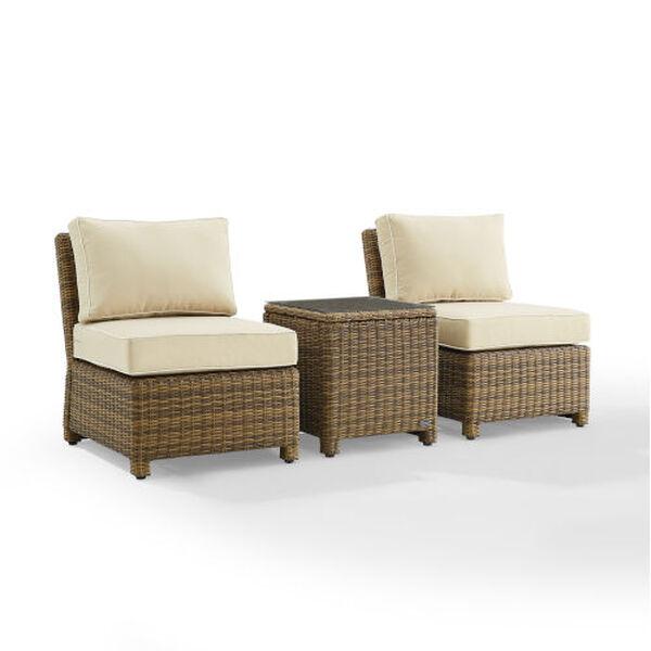 Bradenton Sand Weathered Brown Three-Piece Outdoor Wicker Chair Set, image 6