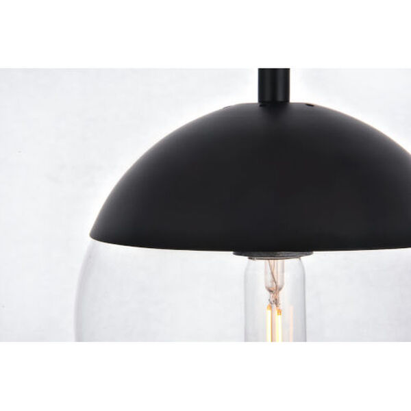 Eclipse Black and Clear Eight-Inch One-Light Plug-In Pendant, image 4