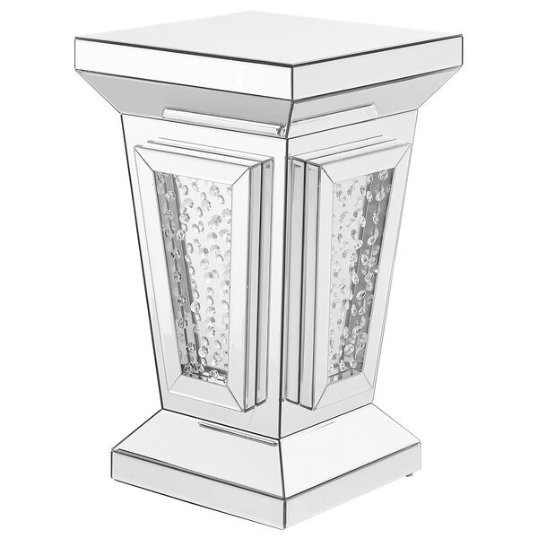 Modern Mirrored 24-Inch Contemporary Crystal End Table, image 3