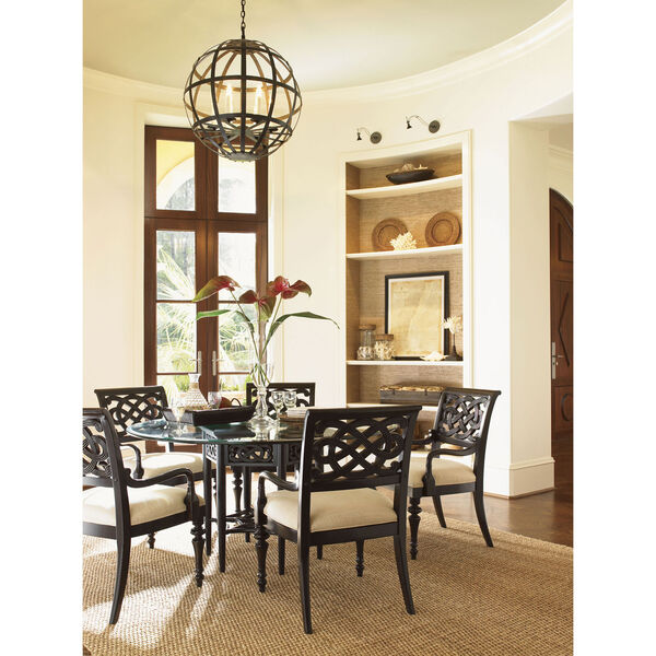 Royal Kahala Gold Sugar And Lace Dining Table with 60 In. Glass Top, image 2