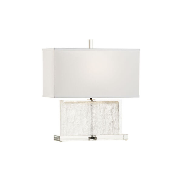 Selena Clear and Polished Nickel Table Lamp, image 1