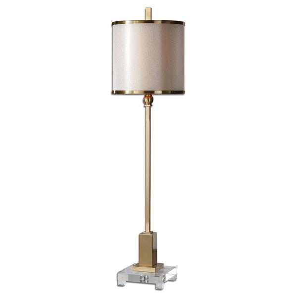Villena Brush Brass One-Light Buffet Lamp, image 1