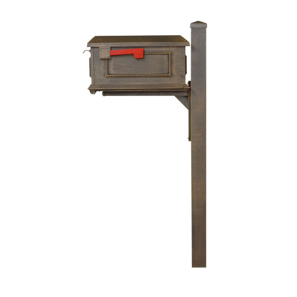 Curbside Copper Mailbox with Wellington Mailbox Post, image 4