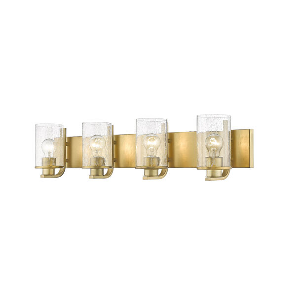 Beckett Olde Brass Four-Light Bath Vanity, image 1