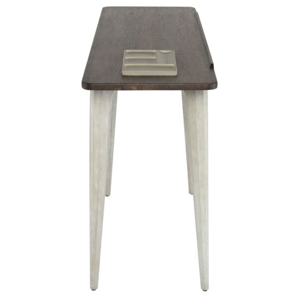 Exeter Walnut and Gray Side Table, image 3