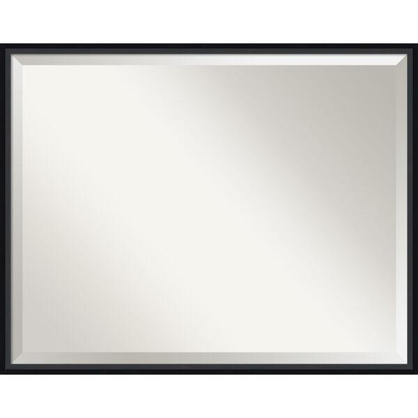 Lucie Black 29W X 23H-Inch Bathroom Vanity Wall Mirror, image 1