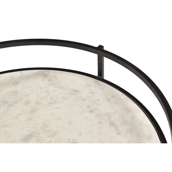 Black and White Round Accent Table, image 6