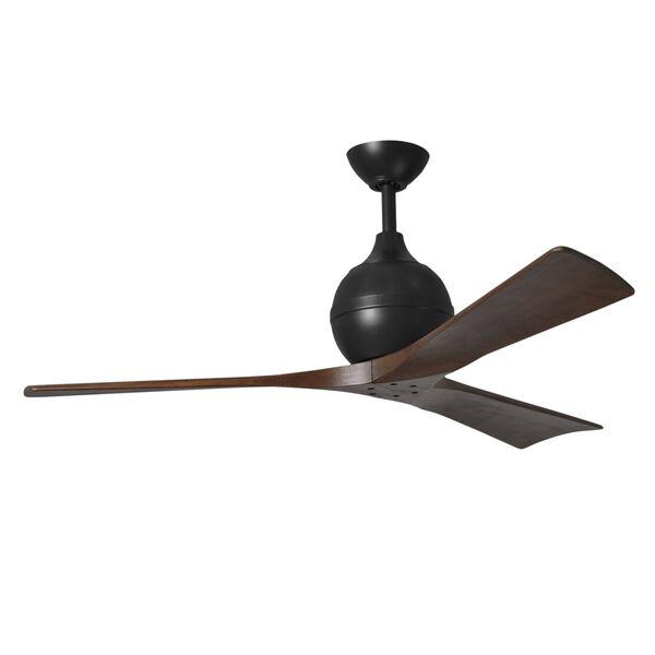 Irene-3 Matte Black and Walnut 52-Inch Outdoor Ceiling Fan, image 1